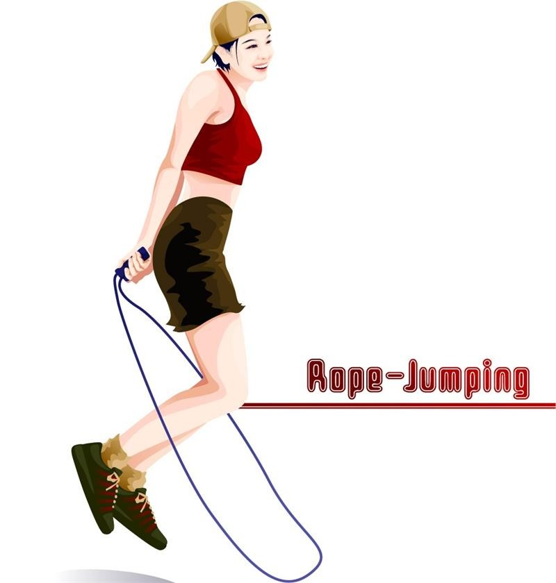 Skipping Jump Rope With Counter High Quality Gym Equipment