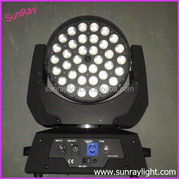 36 4in1 LED zoom moving head wash 36pcs 10w led moving head