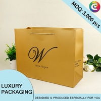 Custom printed luxury cheap printing paper packing bag/gift bag/shoe bag high quality for clothes with logo print
