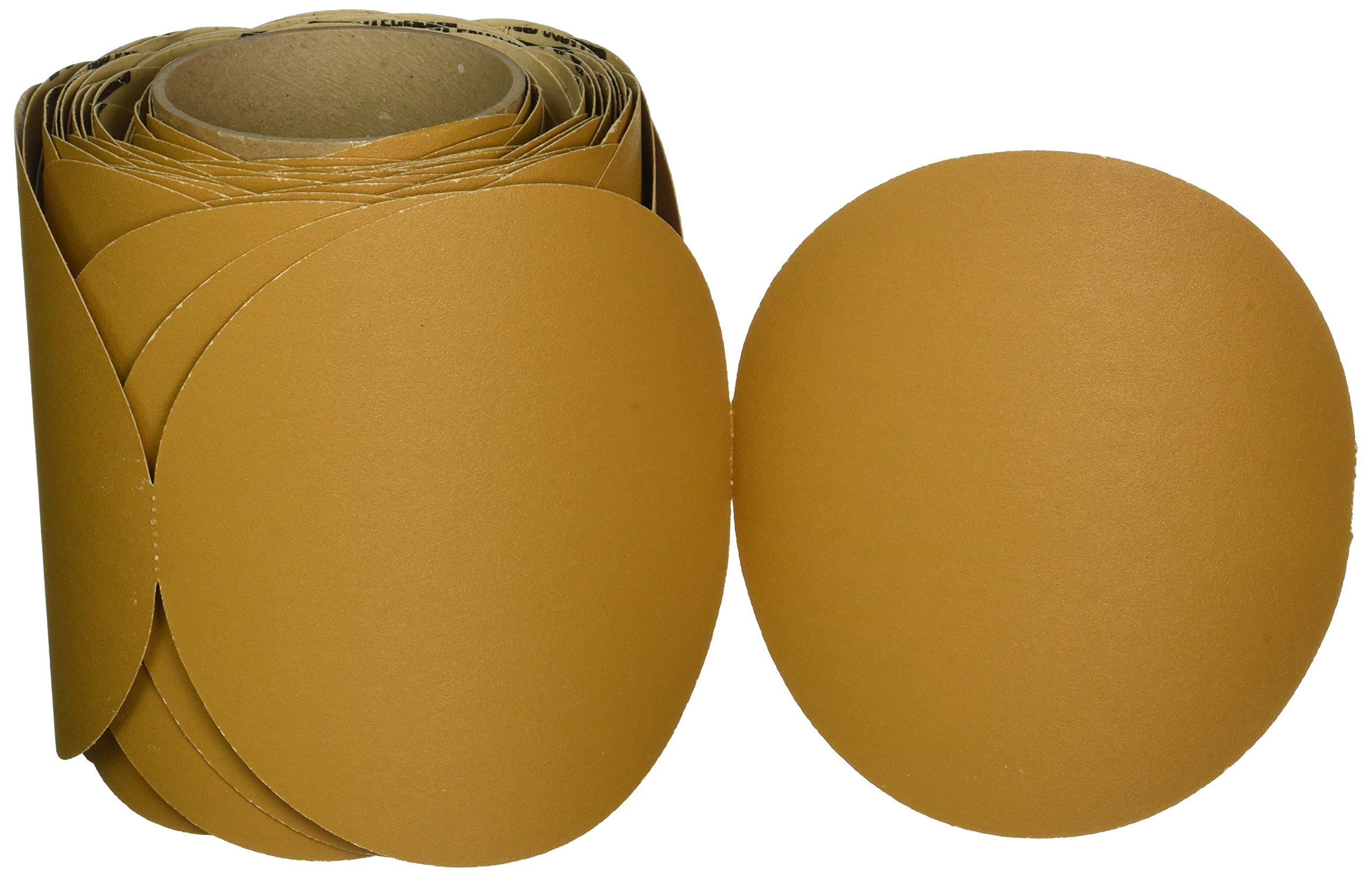 "3M Stikit Paper Disc Roll 363I, PSA Attachment, Aluminum Oxide, 6"" Diameter, 180 Grit (Roll of 100)"