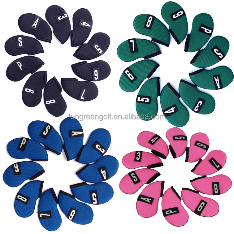Customize Golf Head Cover Wholesale Knitted Golf Iron Head Covers 10 pcs/set