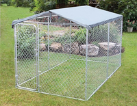 Dog Kennel and Run 4x2.3x1.83m With Roof