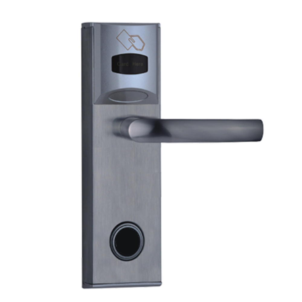HS-L116 hune nfc punch electronic cylinder flush knob door handle lock