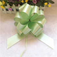 Chinese poly ribbon pom pom instant pull bow