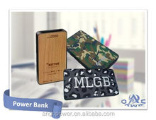 EXCO custom logo printed new mobile external mini wooden power bank for promotion and gift
