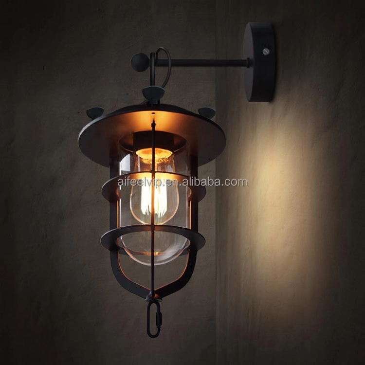 Retro industrial style indoor wall lamp lighting wall sconce for bar