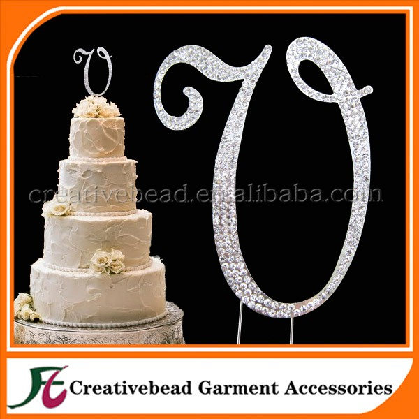 Rhinestone letter a z cake toppers for wedding accessories rhinestone letter a z cake toppers for wedding accessories christmas decorationcake decorating junglespirit Image collections