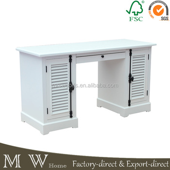 French Country Double Sided Office Desk With Drawers Louvered - French country desk