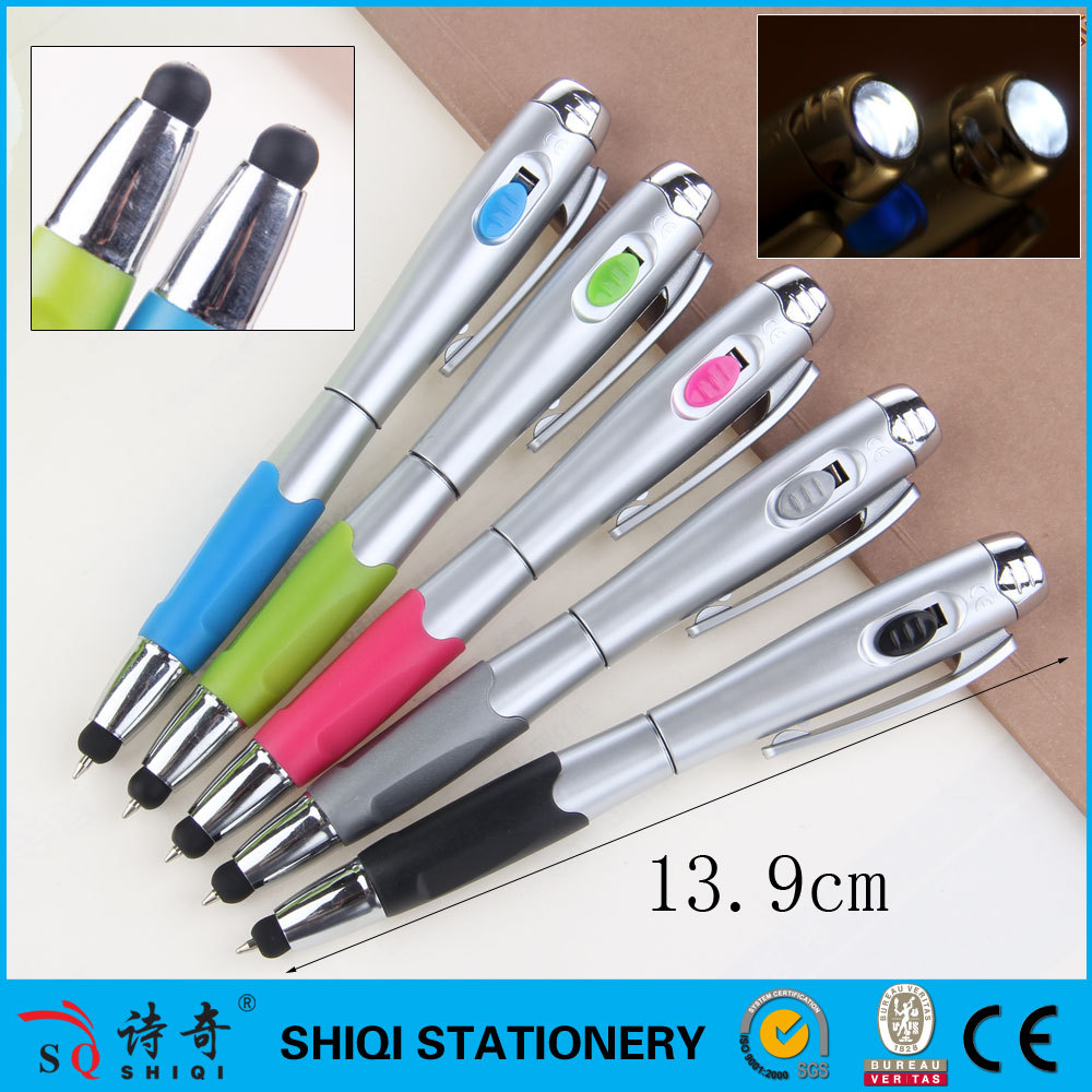 Promotional LED Light Pen With Stylus ,gifts touch led pen