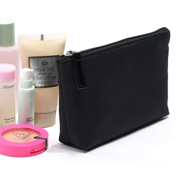 black satin cosmetic bags for Women