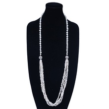 Egyptian Unique Magnetic Clasp Long Pearl Jewelery Necklace