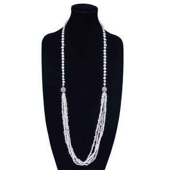 Egyptian Unique Magnetic Clasp Long Pearl Jewelry Necklace