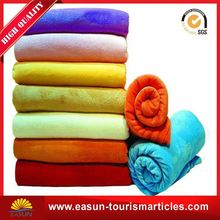 Low price raw material warm coral fleece blankets overnight modacrylic airline blanket