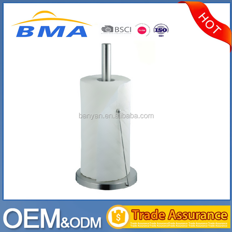 Stainless Steel Kitchen Paper Roll Holder Standing Paper Towel Holder
