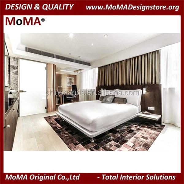Diseño Simple/madera Hotel King Size Con Gran Cabecera/cabecero De ...