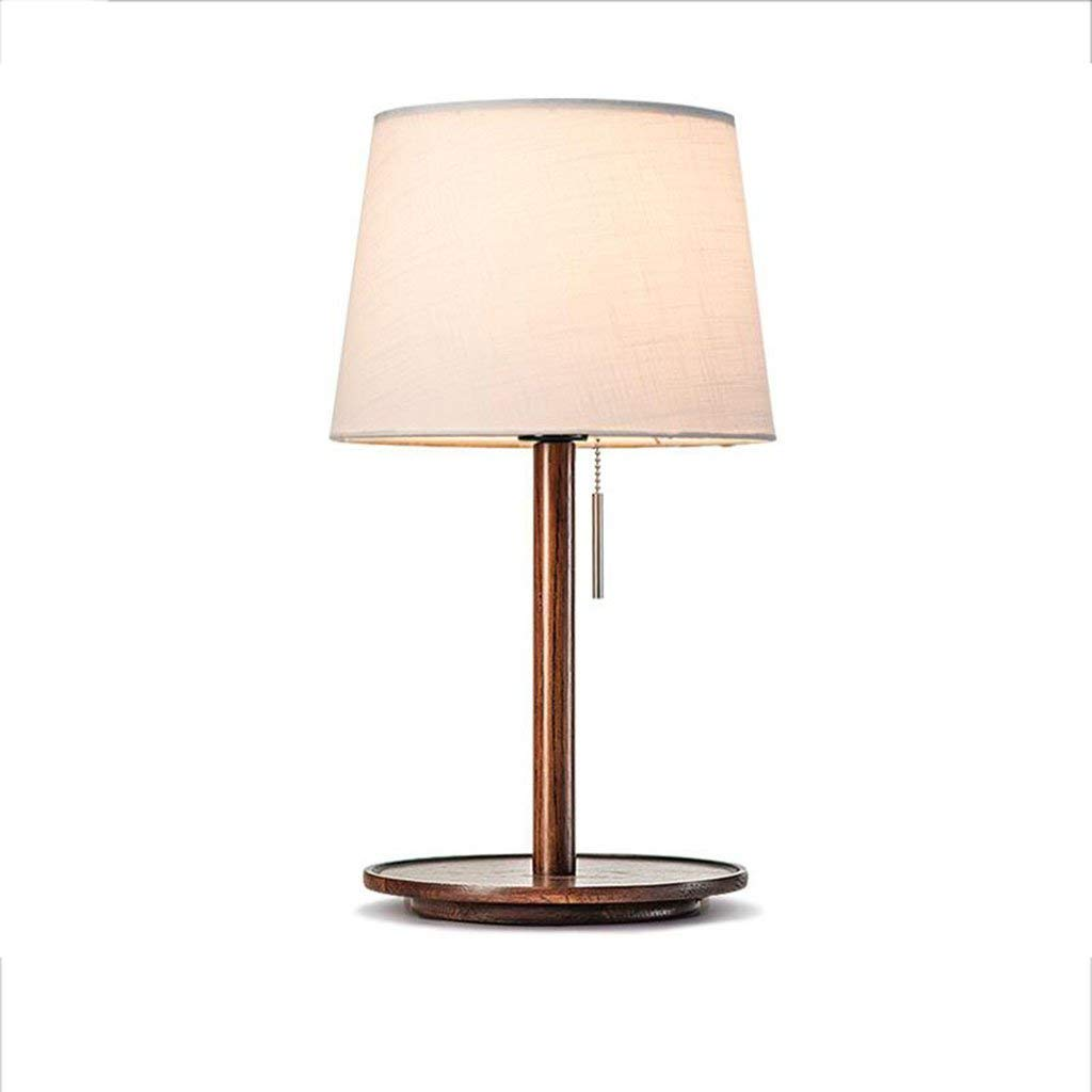 Le fu yan Nordic Bedside Lamp Bedroom Simple Modern American Creative Japanese Style Solid Wood Wooden Table Lamp (Color : Ac)
