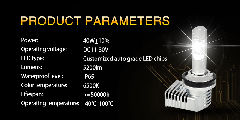 2019 Unique design car led headlight, best beam pattern cars 9005 9006 H1 H7 H8 led headlight bulbs
