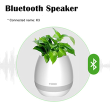 Real plant playing music wireless speaker waterproof wireless speaker LED flash singing plant