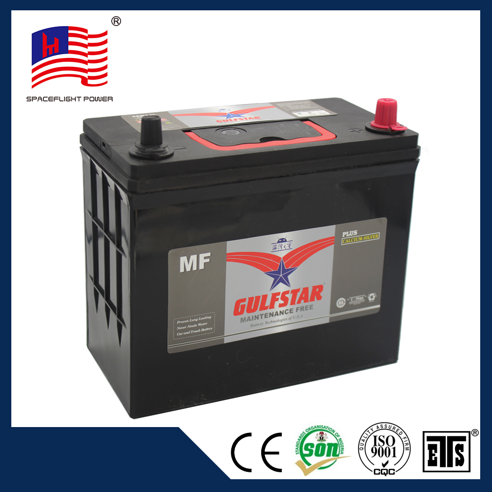 jis style automotive 12v mf 45ah auto battery