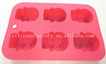 lovely snowman 6 holes silicone loaf pan,Christmas cake mould
