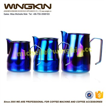 Espresso Stainless Steel Coffee Pitcher Barista Gear 9 Colors For Choice Kitchen Milk Frothing