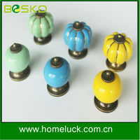 wholesale decorative colorful round ceramic porcelain door knob