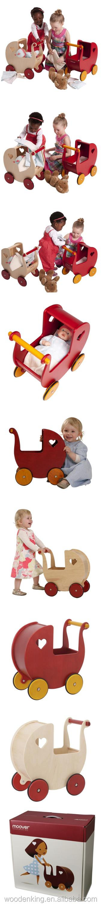 Made In Yiwu China Factory Suppliers Wholesale Mini Children Walkers Wooden Small Carts Push Baby Kids Trolley Walker Cart Toy