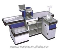 Forma reta/L forma varejo supermercado loja cashier check-out counter