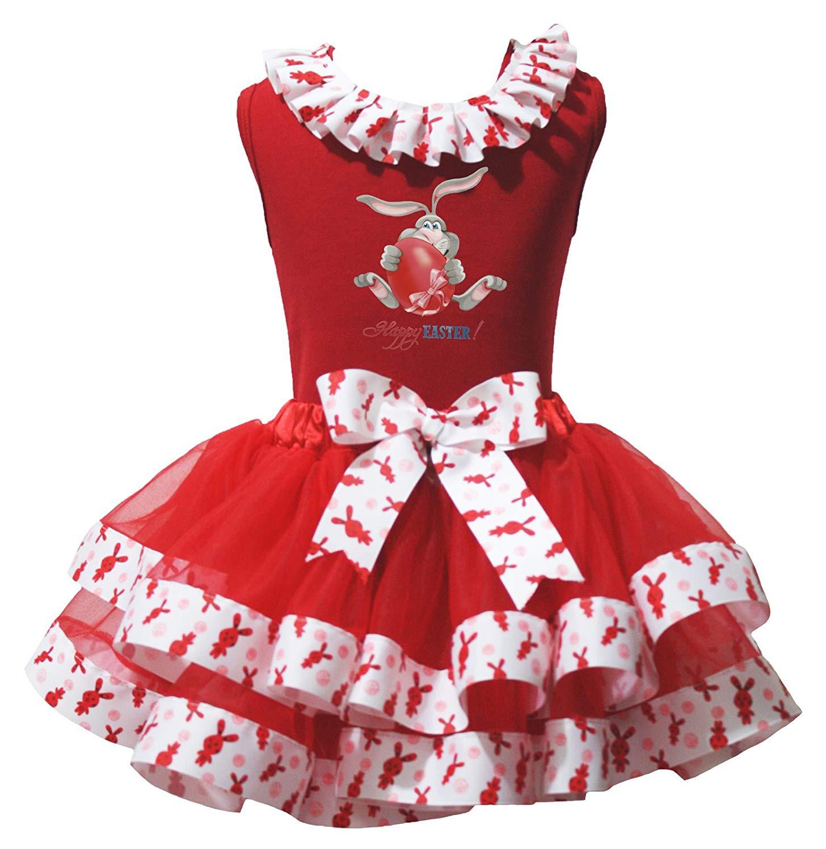 Valentine Dress Mustache Red Heart L//s Shirt Hearts Petal Skirt Set 1-8y