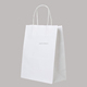 custom logo printed matt laminated white cloth shopping paper bag bag