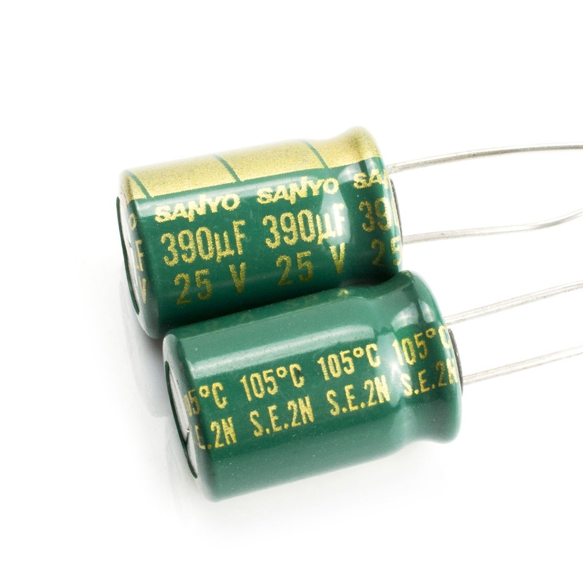 Set of 2 12.5X25mm 105/°C Electrolytic Capacitor 22uF 400V 20/% Radial 1//2 X 1 22 mfd 400V
