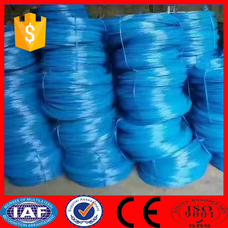 Q235 blue color electro galvanized steel iron wire rod 6mm
