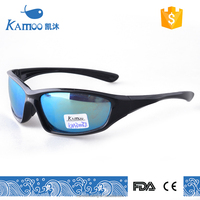 sample shine black with blue mirror simple sports sunglasses