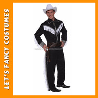 Cowboy Western Wild West Mens Halloween Outfit Fancy Dress Up Stag Party Costume PGMC0893