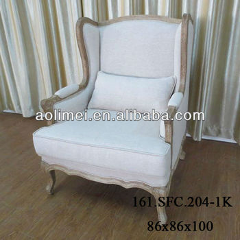 French Upholstered Wingback Chairs
