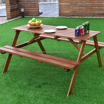 Superb Solid Fir Wood Picnic Table W Attached Bench Seat Buy Cheap Picnic Tables Antique Picnic Tables Picnic Table Wood Product On Alibaba Com Gamerscity Chair Design For Home Gamerscityorg