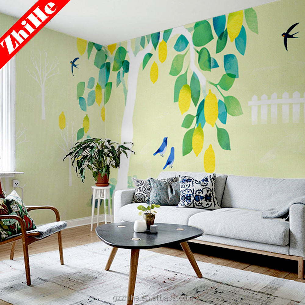 Diseo de pintura para interiores great claire paquin for Papeles murales con diseno de paisajes