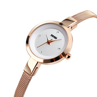 skmei custom quartz relojes japan movt rose gold watch for women