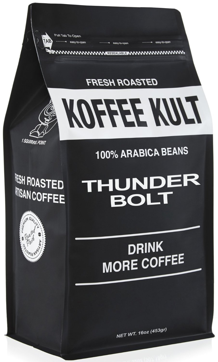 Thunder Bolt Coffee 1 Pound Ground French Roast Colombian Freshly Roasted Restaurant Quality Gourmet Coffee - Ideal for French Press, Drip Coffee from Koffee Kult