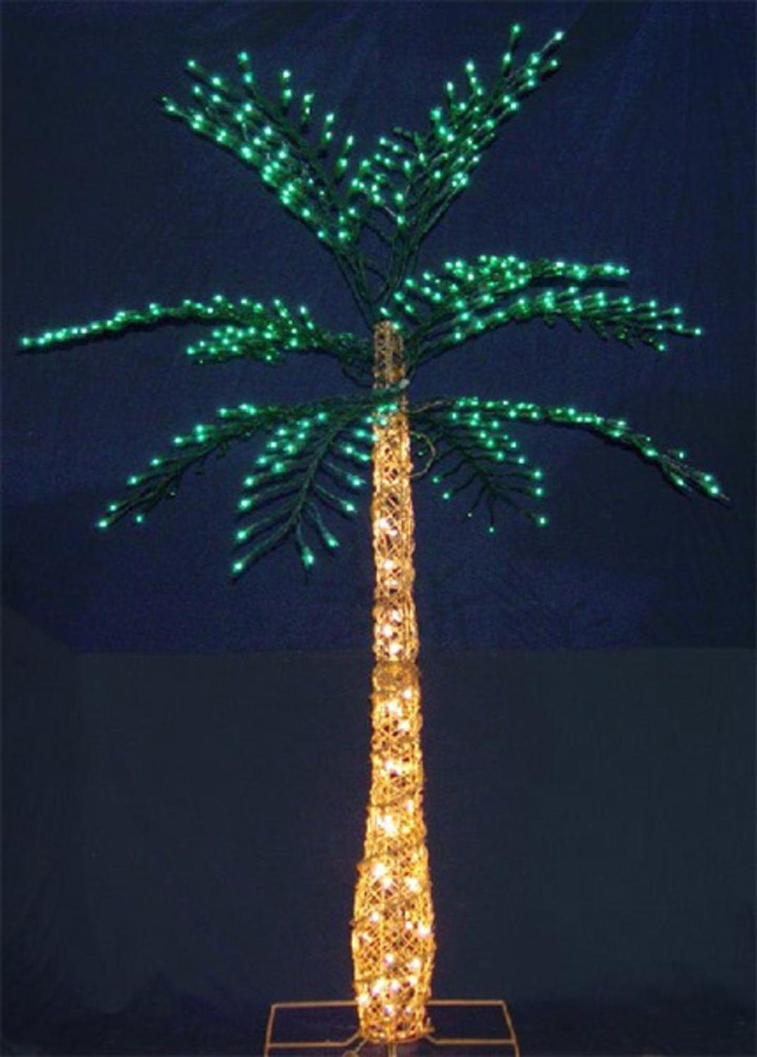 Get Quotations · 6.5u0027 Foot Indoor/Outdoor Lighted Tropical Palm Tree with Grapevine Design & Cheap Indoor Lighted Tree find Indoor Lighted Tree deals on line at ...