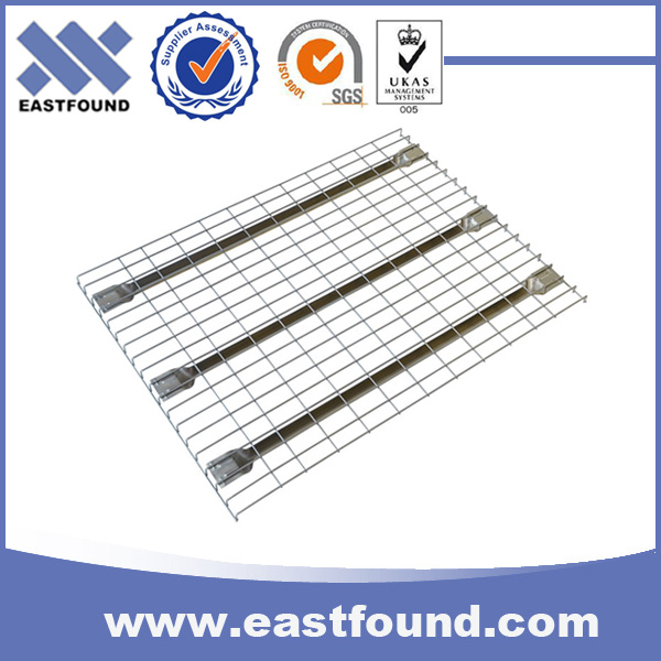 Industrial storage use adjustable welded wire mesh deck for pallet rack