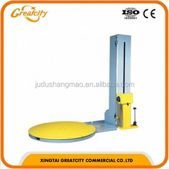 Automatic pallet strapping machine, stretch wrapping machine