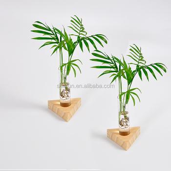 Wooden test tube rack wood flower vase stand buy wooden for Test tube flower vase rack