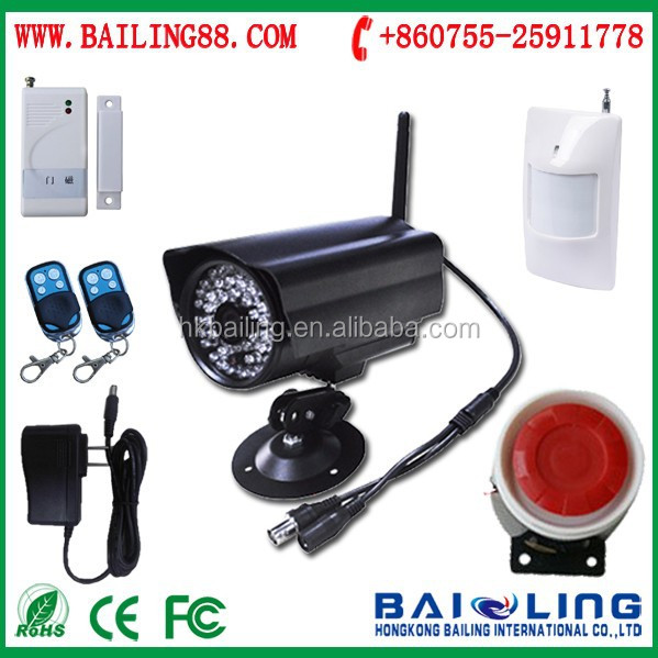 CMS software 3G Wireless alarm system with night vision camera support IOS Andriod APP , gsm/gprs camera mms alarm system E9