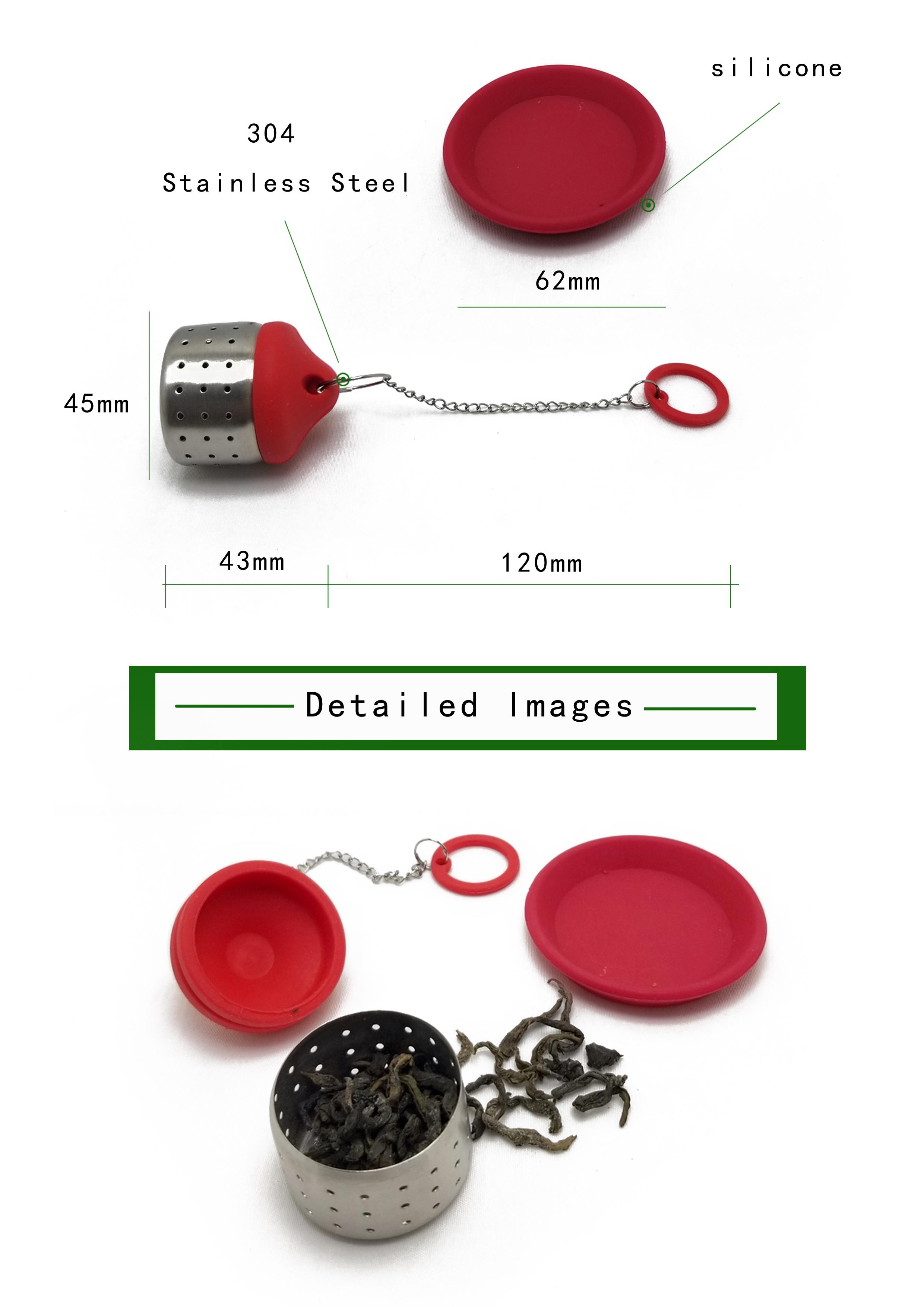 Kleine gift siliconen en rvs thee zetgroep