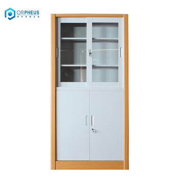 quality design 679db 71c97 Easy Install Office Furniture Steel Filing Cabinets Glass Sling Door  Locking Metal Cupboard - Buy Locking Metal Cupboard,Sliding Door Office  Filing ...