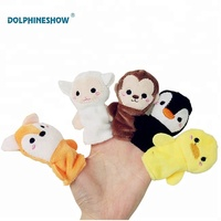 Wholesale Lovely Soft Plush Educational Toy Hand Puppet For Kids Custom Animal Finger Puppets