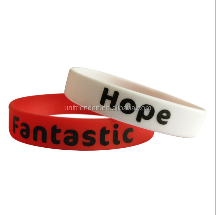 factory cheap custom silicone sport bracelet / silicone fashion band