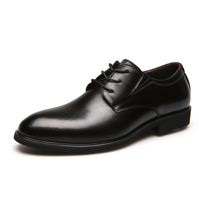 PDEP hot sale microfiber leather lace up wholesale brogue work flat dress men  big plus size 38-46 office casual formal shoes
