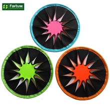 Hot sales mini triangle neoprene frisbee,flying disc for kids play on the grass